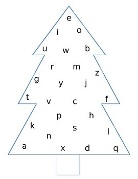 Alphabet Christmas Trees