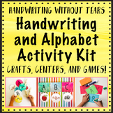 Alphabet Handwriting Activity Craft Kit  - Handwriting Without Tears Centers