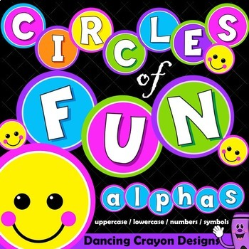 Alphabet Letters Clip Art - Circles