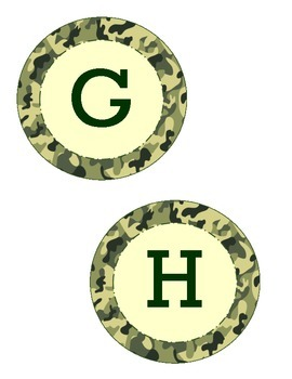 Alphabet Circles Camo Background