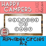 Alphabet Circles Camping Themed Happy Campers Classroom De