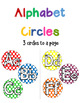 Alphabet Circles for Charts