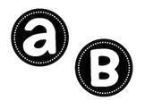 Alphabet Circles in Black and White--Howser