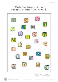Alphabet Circling