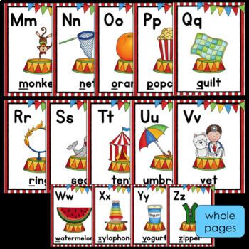 Circus Alphabet Posters