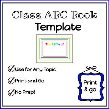 Alphabet Class Book Template