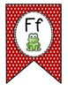 Red Polka-Dot Alphabet and Word Wall Classroom Banner