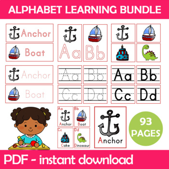 Alphabet Classroom Bundle Instant Download PDF; Preschool, Kindergarten