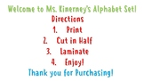 Alphabet Classroom Chart/Flashcards