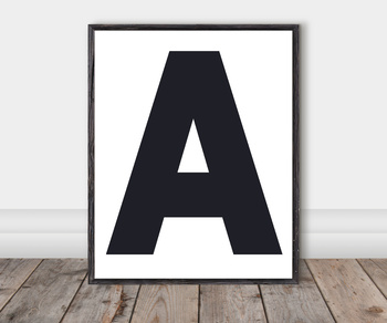 Alphabet Classroom Cut-Out Posters: Blueberry