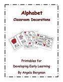 Alphabet Classroom Decorations