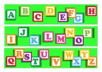 Alphabet Bulletin Board Border