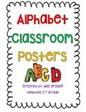 Alphabet Classroom Posters