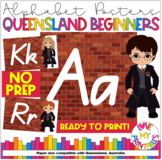 Alphabet Classroom Decor Posters (Aa to Zz) - Harry Potter Theme, Qld Beginners