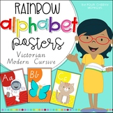 Alphabet Classroom Posters // Australian Victorian Modern Cursive Font
