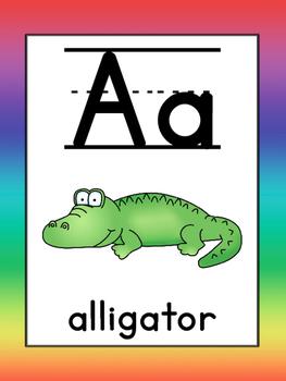 Alphabet: Classroom line & small cards