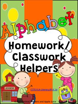 Alphabet Classwork and Homework Helpers