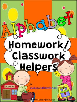 Alphabet Classwork and Homework Helpers