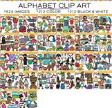 School Alphabet Clip Art Big Bundle {Beginning Sounds Clip Art}