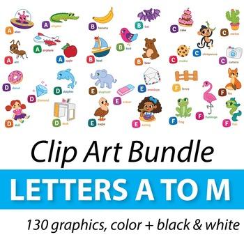Alphabet Clipart Bundle A to M