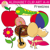 Alphabet Clipart A-H Freebies
