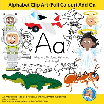 "Alphabet Clip Art | Add on ""Aa"""