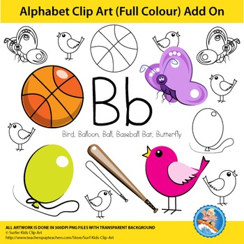 "Alphabet Clip Art | Add on ""Bb"""