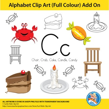 "Alphabet Clip Art | Add on ""Cc"""