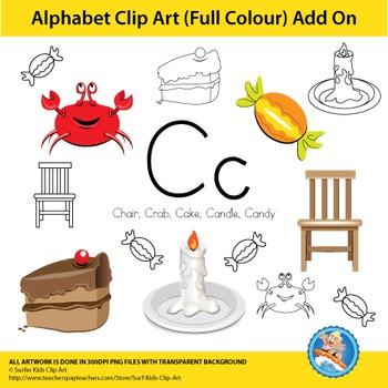 """Alphabet Clip Art   Add on """"Cc"""""""