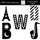 Black and White Alphabet Clip Art - Alphabet Clip Art - Co