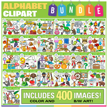 Alphabet Clip Art BUNDLE (Beginning Sounds Clip Art)