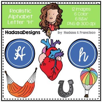 Alphabet Clip Art - Beginning Sounds Letter H