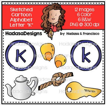 Alphabet Clip Art - Beginning Sounds Letter K