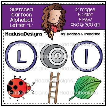 Alphabet Clip Art - Beginning Sounds Letter L