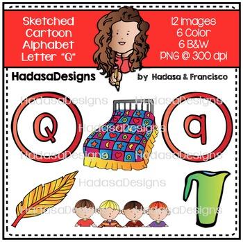 Alphabet Clip Art - Beginning Sounds Letter Q