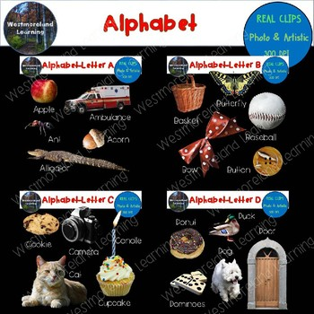 Alphabet Clip Art Beginning Sounds Real Clips Photo & Artistic Digital Stickers