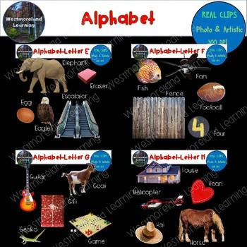Alphabet Clip Art Beginning Sounds Real Clips Photo & Artistic Digital Stickers