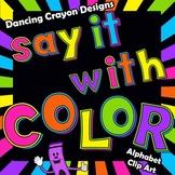Alphabet Letters Clip Art - Bright Colors