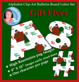 Alphabet Clipart Bulletin Board Letter Set Gift Elves