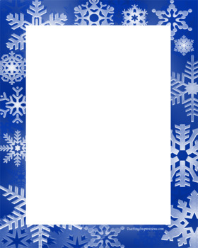 Alphabet Clipart Bulletin Board Letter Set Snowflakes Background