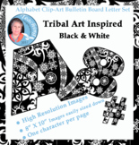 Alphabet Clipart Bulletin Board Letters Set Tribal Art Inspired