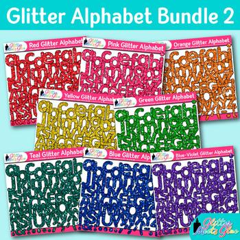 Alphabet Clip Art Bundle: 8 Packs of Letter Graphic {Glitter Meets Glue Designs}