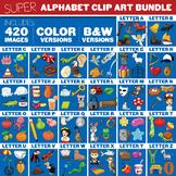 Alphabet Clip Art Bundle - Beginning Clipart Set - 210 Images
