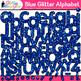 Alphabet Clip Art Bundle   Glitter Letters for Classroom Decor & Resources