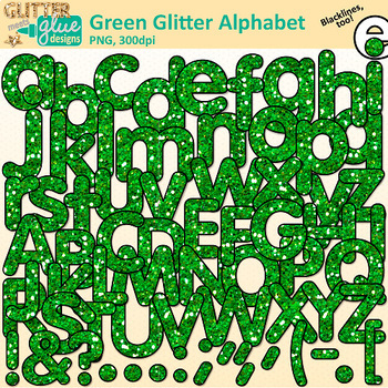 Alphabet Clip Art Bundle | Glitter Letters for Classroom Decor & Resources