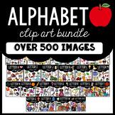 Alphabet Clip Art (Beginning Sounds) Bundle:  Moveable for