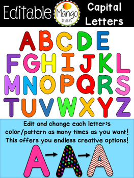 Alphabet Clip Art Editable