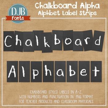Alphabet Clip Art: Chalkboard Alphabet Letters