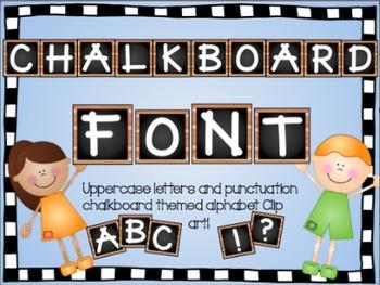 Alphabet Clip Art- Chalkboard theme