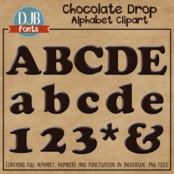Alphabet Clip Art: Chocolate Drop Alphabet Letters
